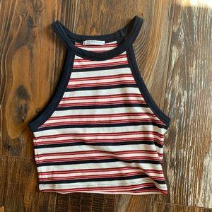 nwot zara striped crop top